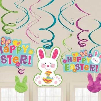 P/12Deco Espiral Conejo Pascua