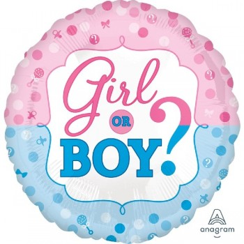 "Globo 18"" Girl Or Boy?"