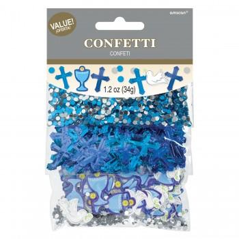 P/3 Confetti Comunion Azul