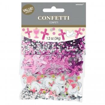 P/3 Confetti Comunion Rosa