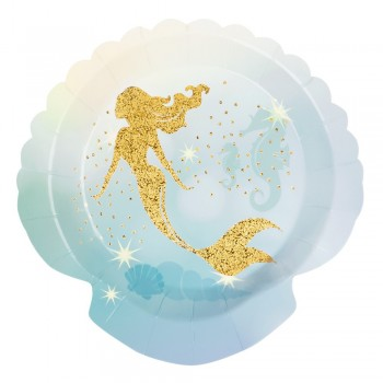 P/6 Plato Sirena Dorada 18Cm