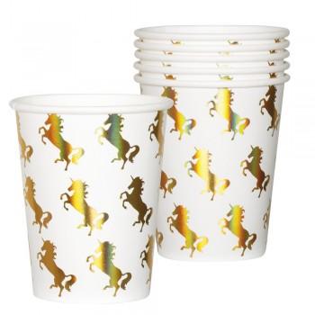 P/6 Vasos Unicornio Hologr