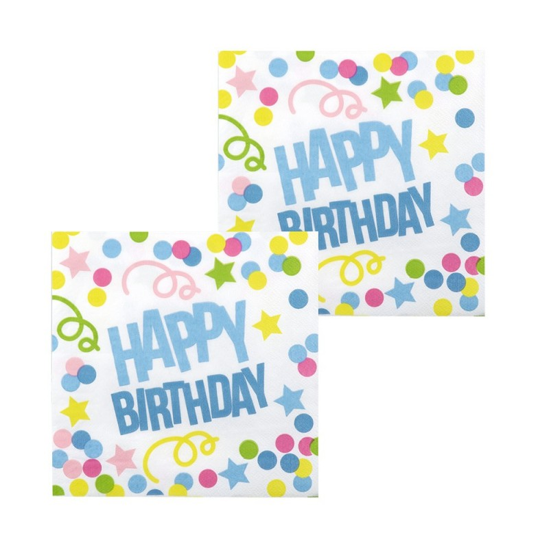 P/12 Serv.Happy Birthday Punto