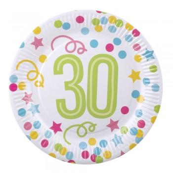 P/6 Plato Nº30 Confetti 23Cm