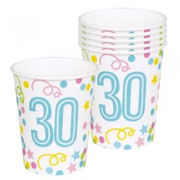 P/6 Vasos Nº30 Confetti