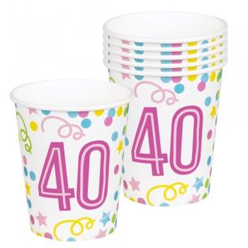 P/6 Vasos Nº40 Confetti