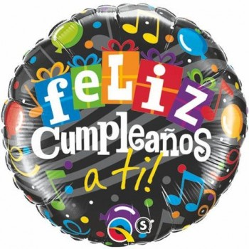"Globo 18""Feliz Cumpleaños A Ti"