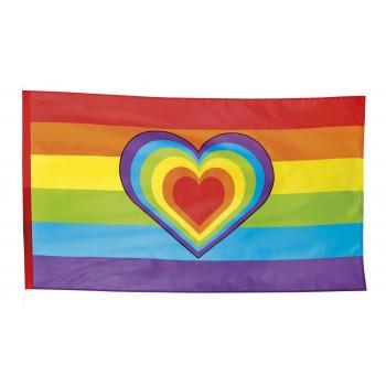 Bandera Arcoiris 90X150corazon