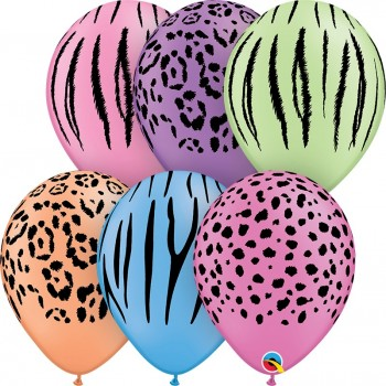 "Globo Latex 11"" Safari Colores"