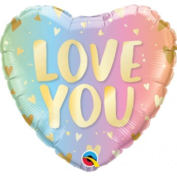Globo Corazon Love You Oro