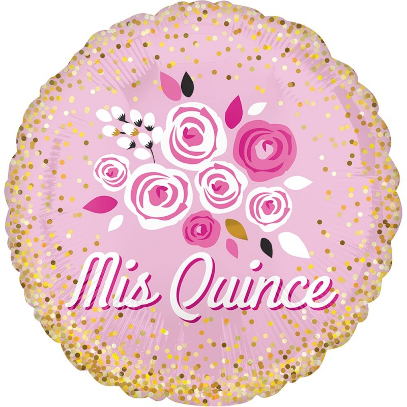 "Globo 18""Mis Quince Floral"