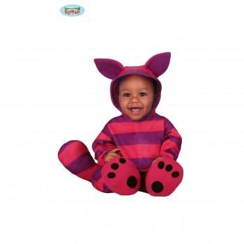 Disf.Bebe Gato Violeta 12-24M