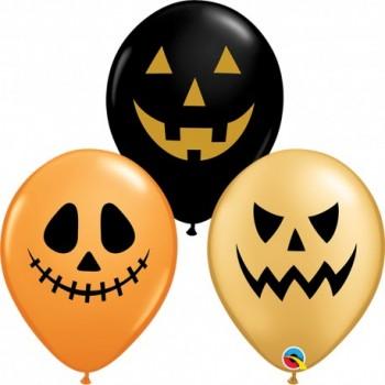 "Globo 11""Caras Halloween"