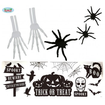 Deco Halloween Pared C/Adhesiv