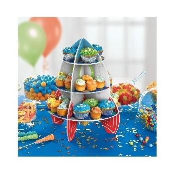Expositor Cupcakes Cohete
