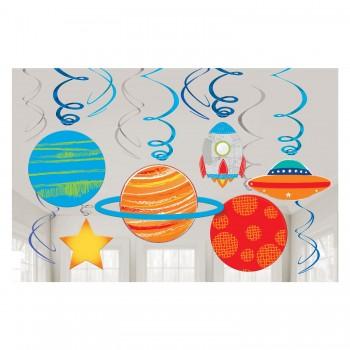 P/12 Deco Espiral Planeta Nave