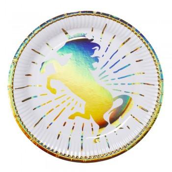 P/6 Plato 23Cm Unicornio Multi