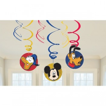 P/6 Deco.Espiral Mickey Mouse