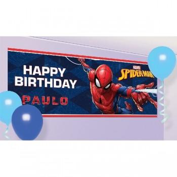 Cartel Spiderman Happy Bday Pe