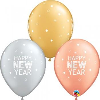 "Globo 11""Metal Happy New Year"