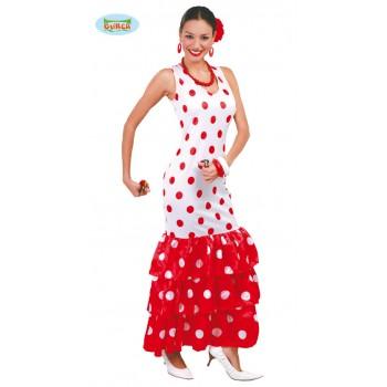 Disf.Flamenca Blanco C/Rojo