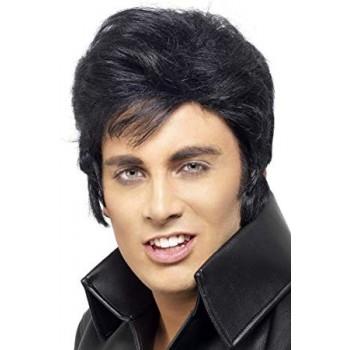 Peluca Negra Elvis