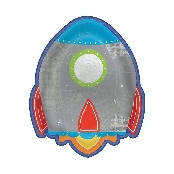 P/8 Plato Forma Cohete 18Cm