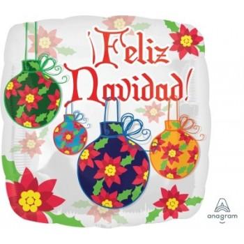 "Globo 18""Feliz Navidad Bolas"