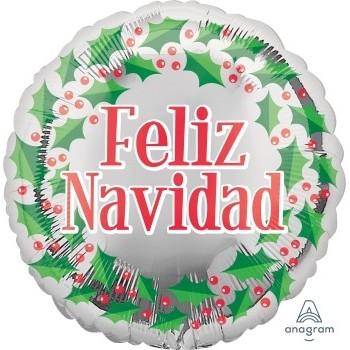 """Globo 18""""Feliz Navidad Corona"""