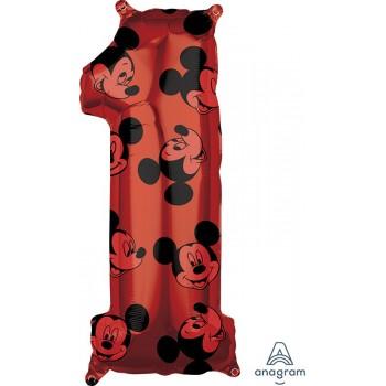 Globo Nº1 Rojo Mickey
