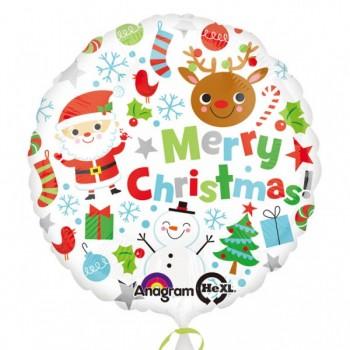 "Globo 18""Merry Xmas Icons"