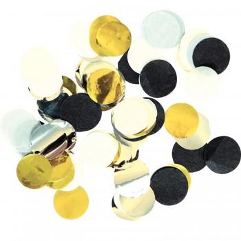 Confetti Circulo Blc/Oro/Neg