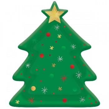 P/8 Plato Forma Arbol Navidad