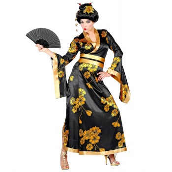 Disf.Geisha Negro/Oro T-M